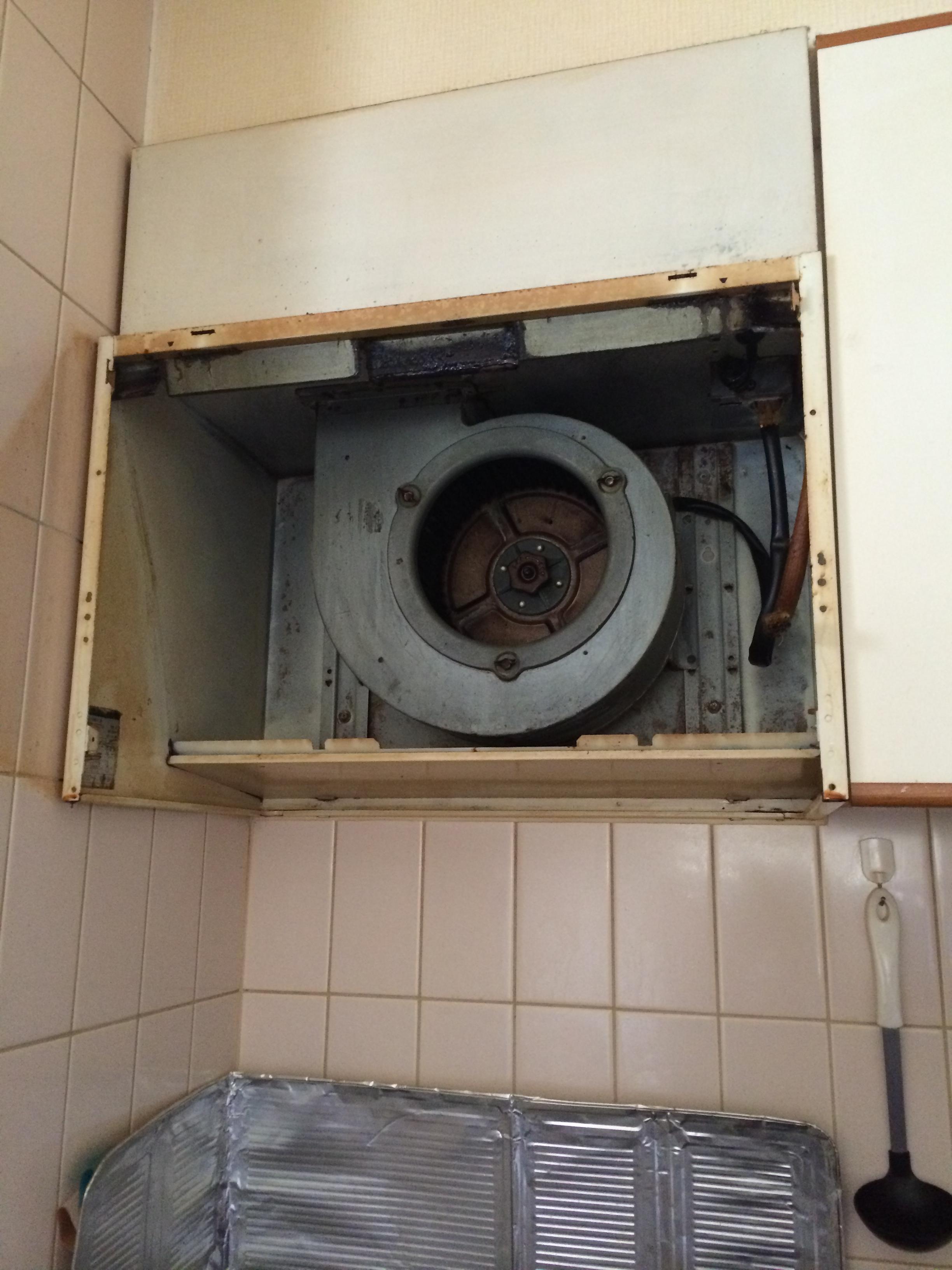 富士工業 レンジフード BDR-3HL-601BK 交換工事