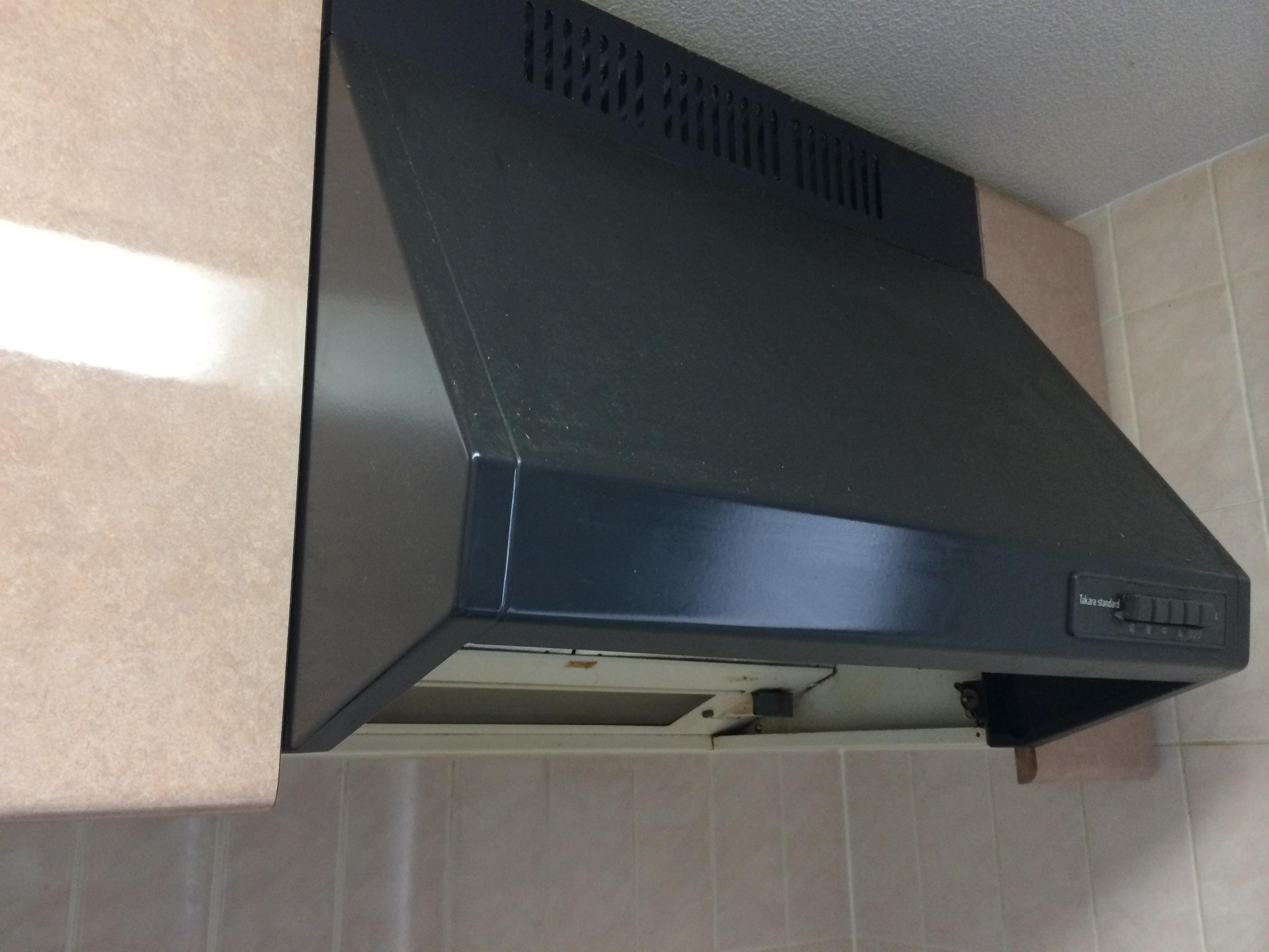 富士工業 レンジフード BDR-3HL-601 / ハーマン ガスコンロ DG32K3SS 交換工事